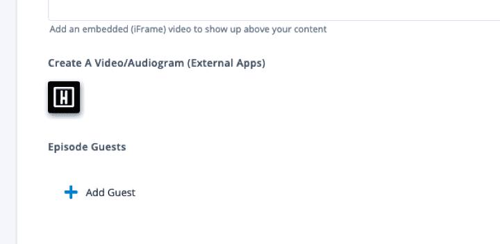 Podcastpage Edit Episode Headliner App Integration